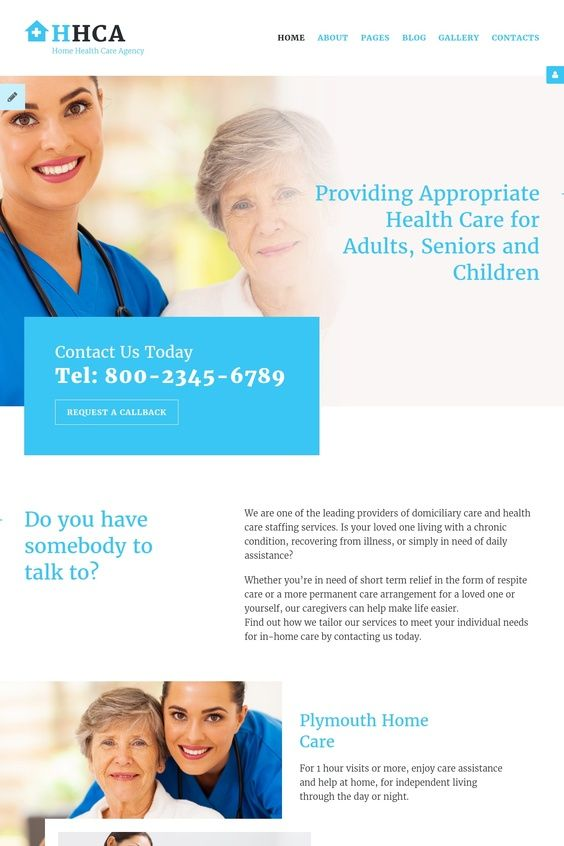 Home Health Care Agency Joomla Template