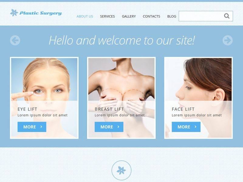 Plastic surgery template joomla