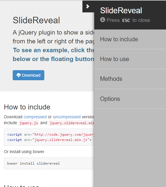Top 10: Best slide sidebar menu (drawer) javascript and