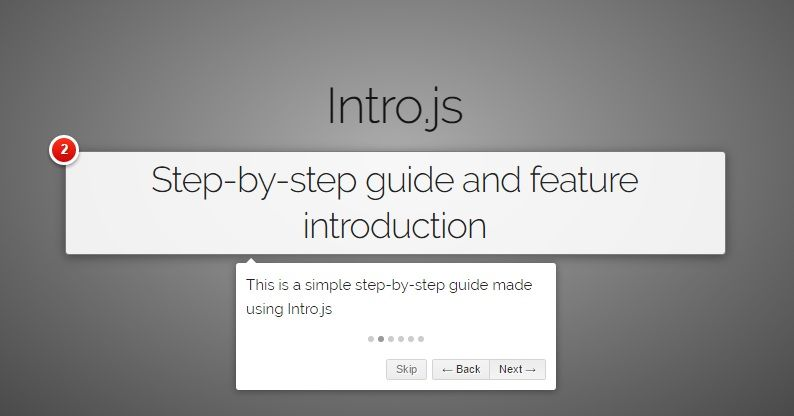 IntroJS demo