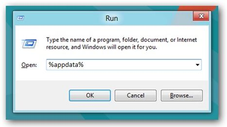 Windows start appdata folder
