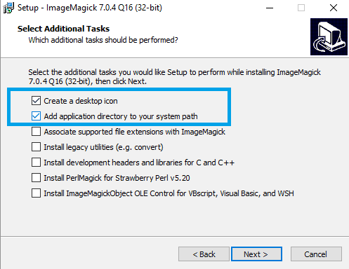 Add Imagick to the PATH in Windows
