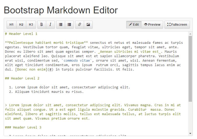 Boostrap Markdown Editor