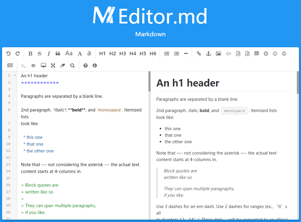 Top 7: Best Markdown editors Javascript and jQuery plugins | Our