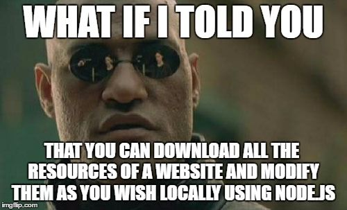 What if i told you Node.js