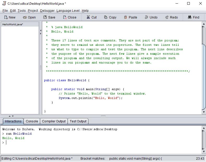 Dr Java IDE