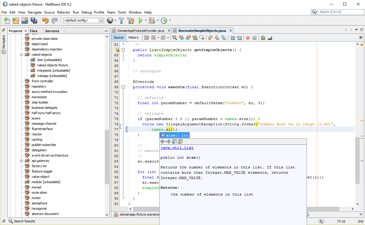 Netbeans Java IDE Example