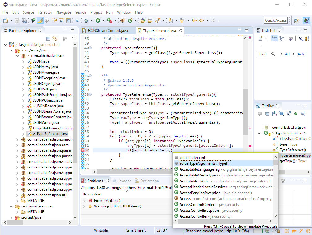 Eclipse Java IDE demo