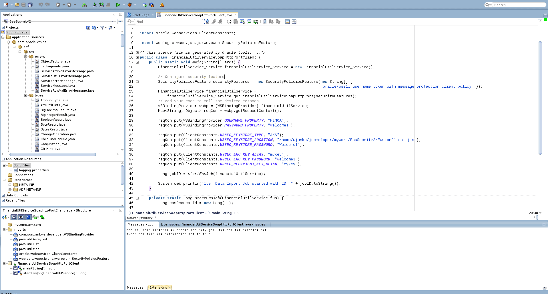 JDeveloper IDE Example