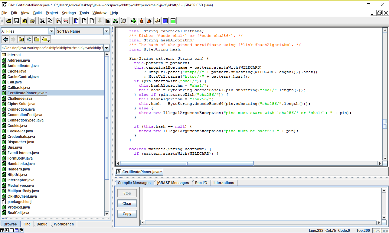 JGrasp Java Screenshot