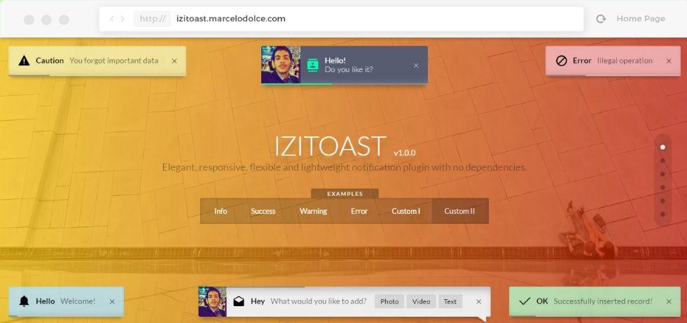 iziToast example