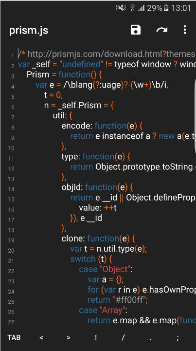 Turbo Editor App Screenshot