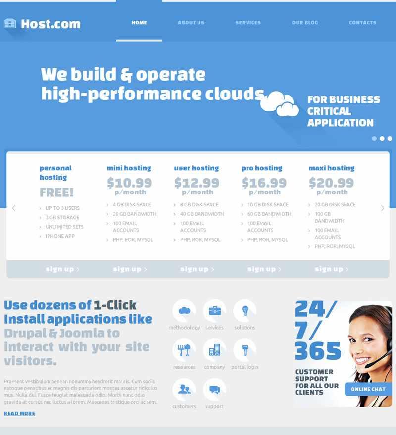 Host.com Joomla Web Hosting Premium Templates