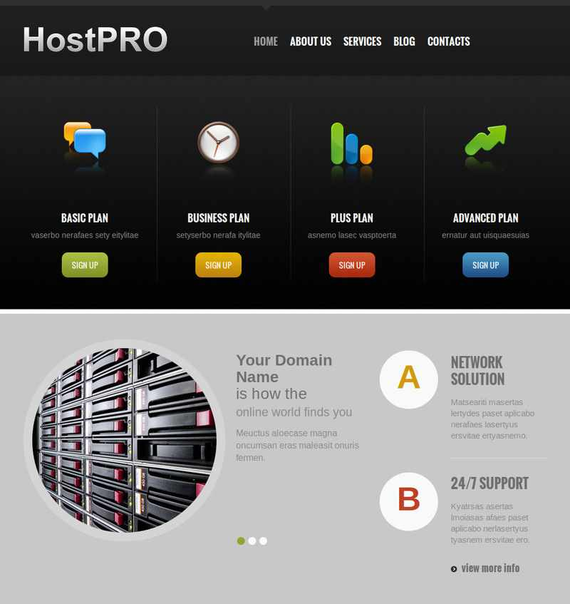 Joomla Web Hosting Template Premium