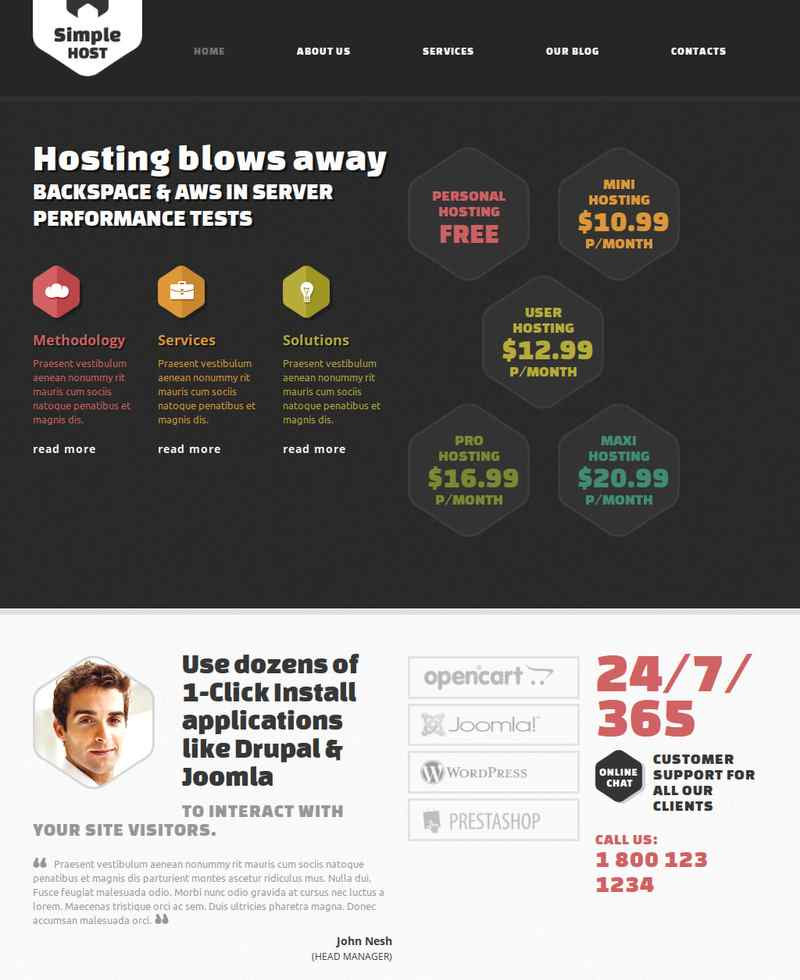 Joomla Simple Host Premium Template