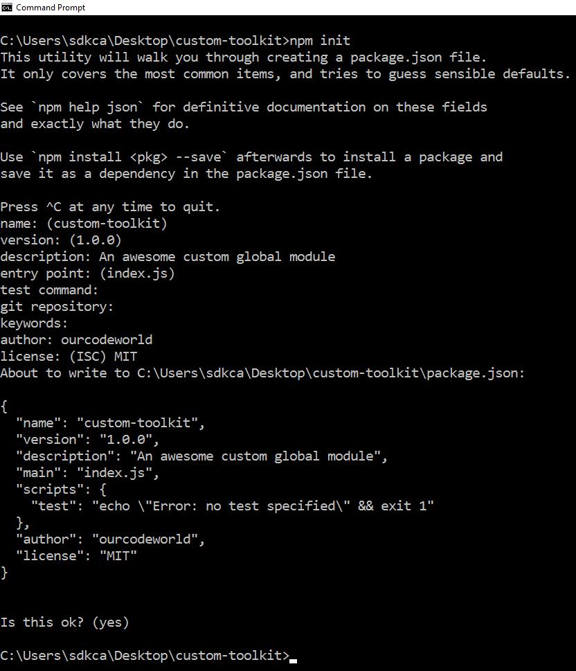 npm init Node.js