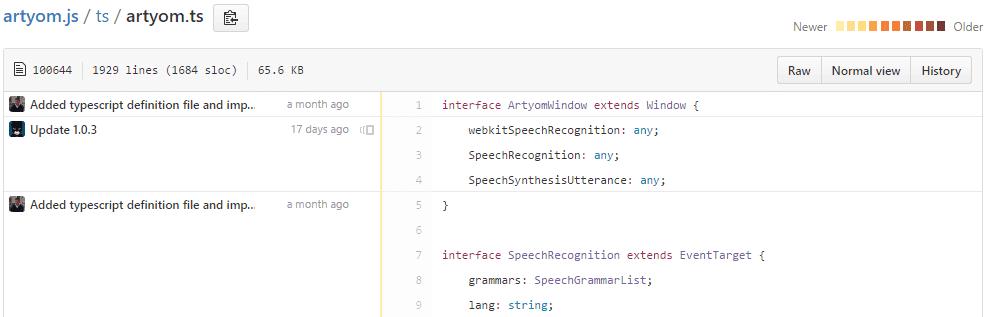 Blame View code Github