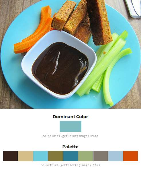 Color Thief Javascript Demo