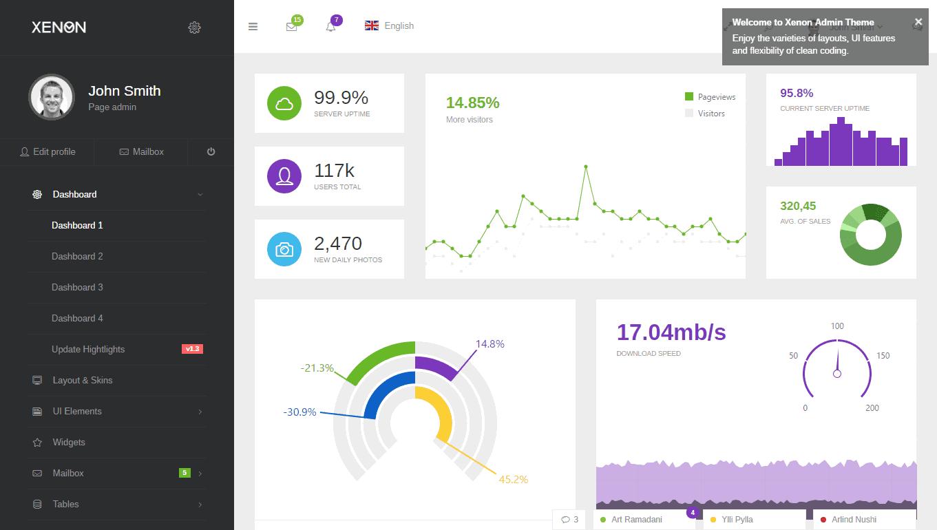 Xenon AngularJS premium template