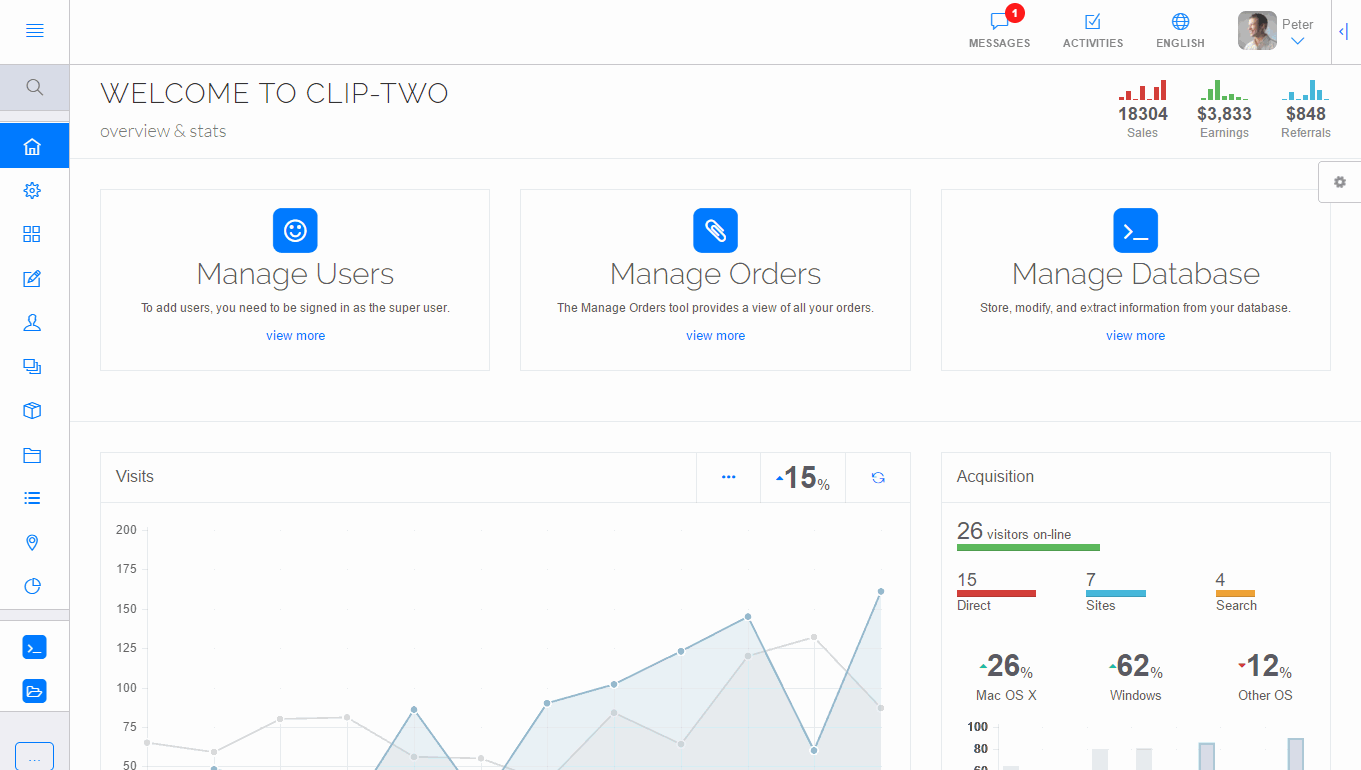 Clip-Two AngularJS Bootstrap Admin Template