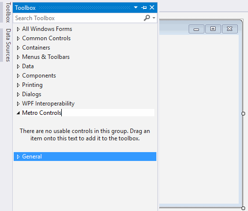 How to install, configure and use MetroFramework (Styled
