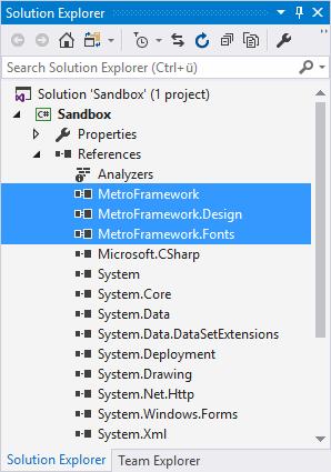 MetroModernUI DLL References