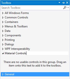 Material Controls Toolbox Tab