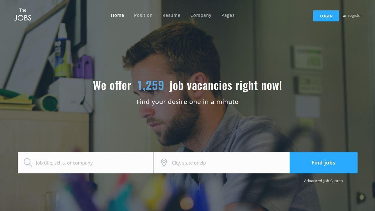 TheJobs Premium Jobs Portal template