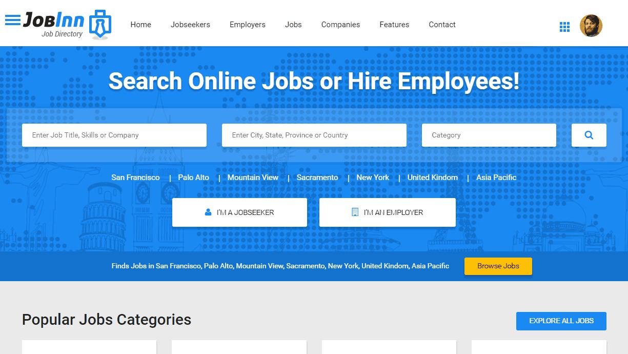 JobInn Premium JobBoard template