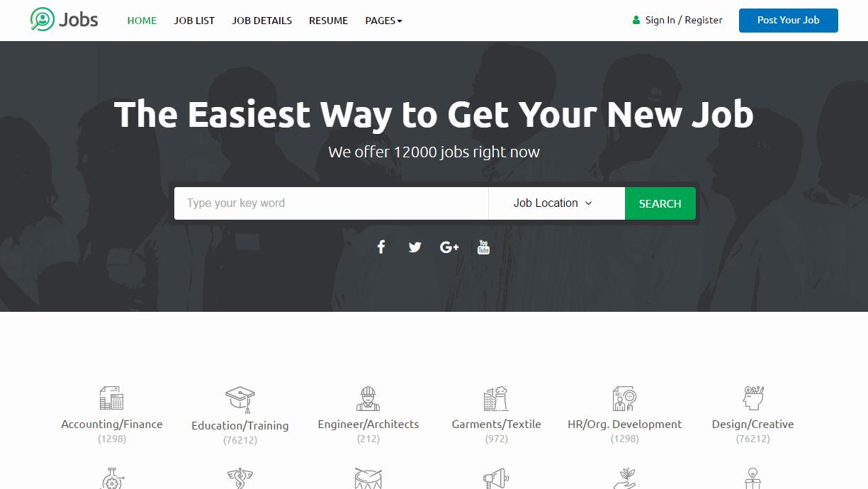 Jobs Job Portal Premium Template