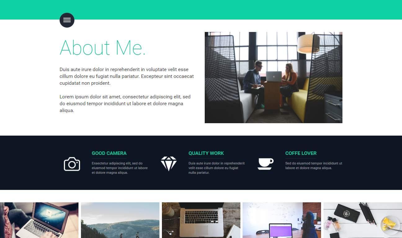 My Wall CV/Portfolio premium template