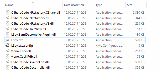 ILSpy binaries in Windows