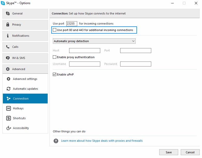 Desktop Options Window
