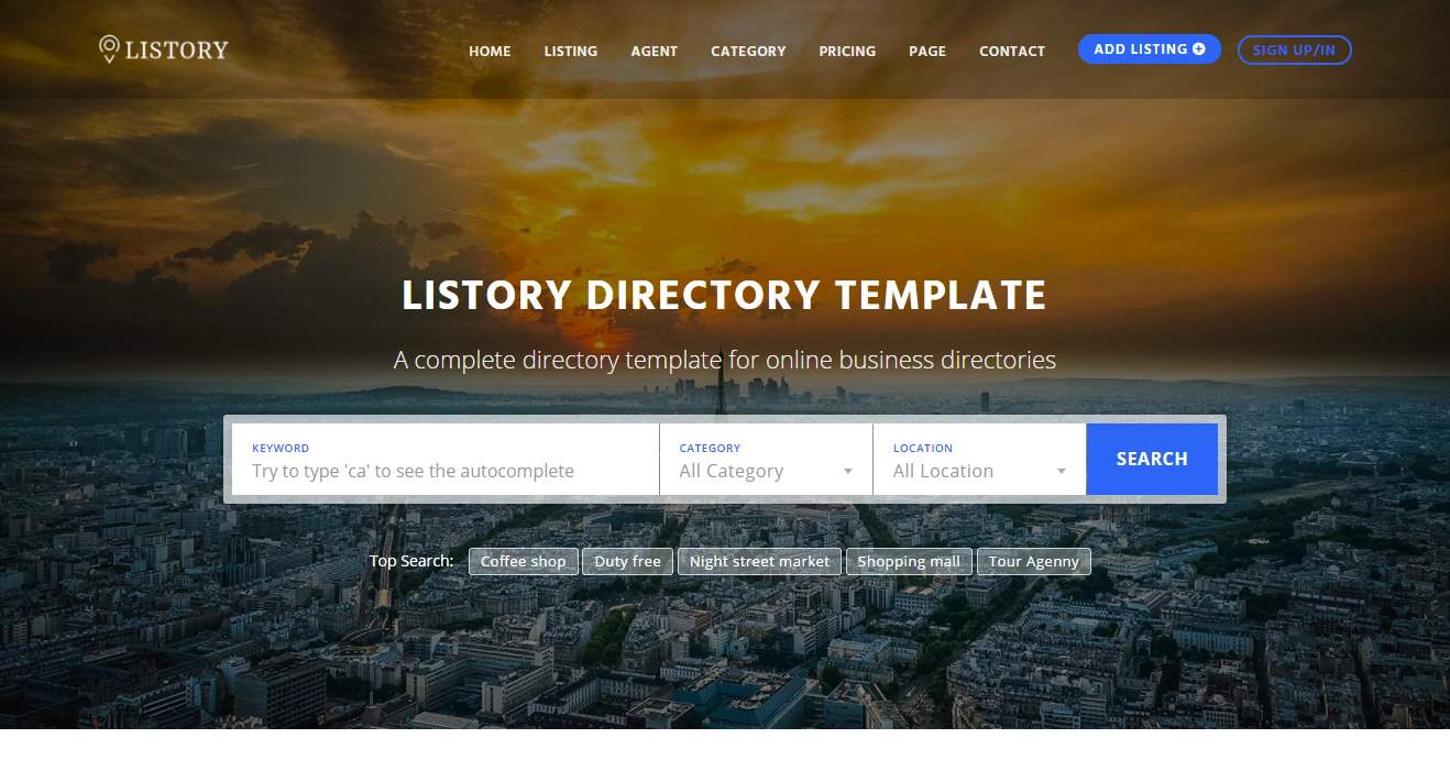 Top 10 best premium multipurpose directory templates our code world listory premium html template cheaphphosting Image collections