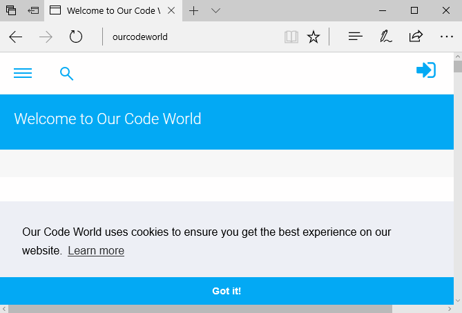 Our Code World Microsoft Edge Virtual Host