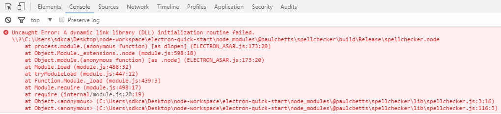 Error native module electron spellchecker