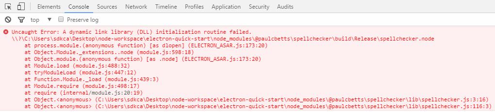 Error native module electron spellchecker