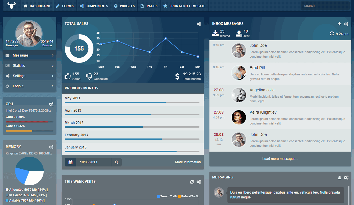 Top 5: Best Premium Bootstrap Admin Templates with Transparent UI ...