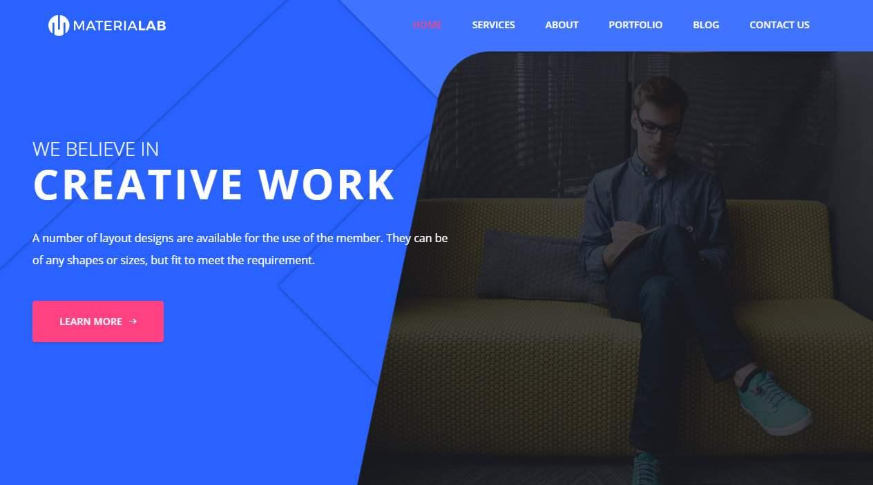 Material Lab Premium HTML Template