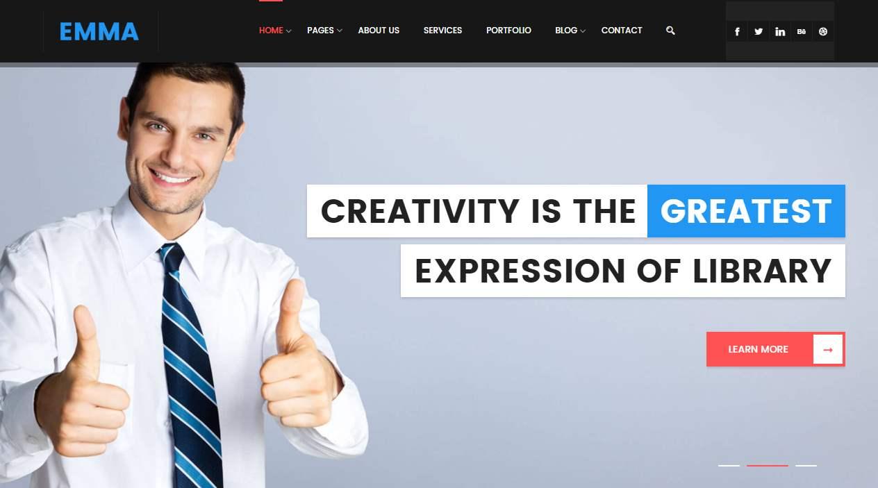 Emma Premium Corporate Material Style