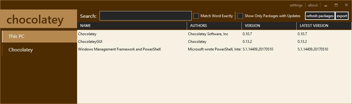 Chocolatey Graphic User Interface