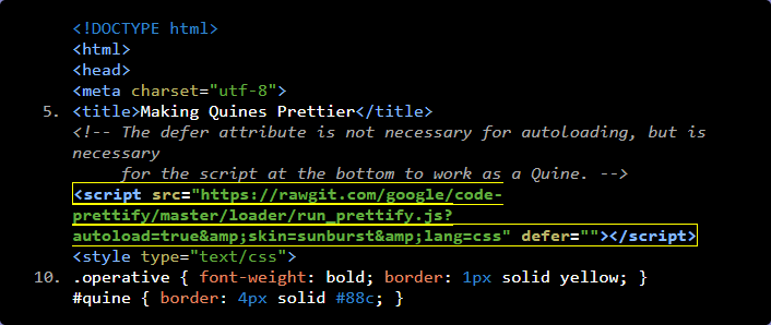 Google Pretty Print Syntax Highlighter