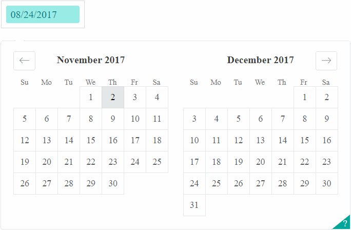 React Dates Component Airbnb