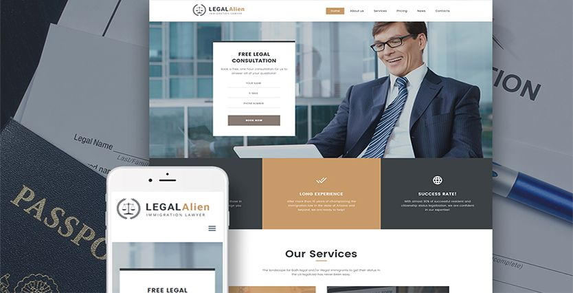 Top 10: Best Premium Lawyer WordPress Themes | Our Code World