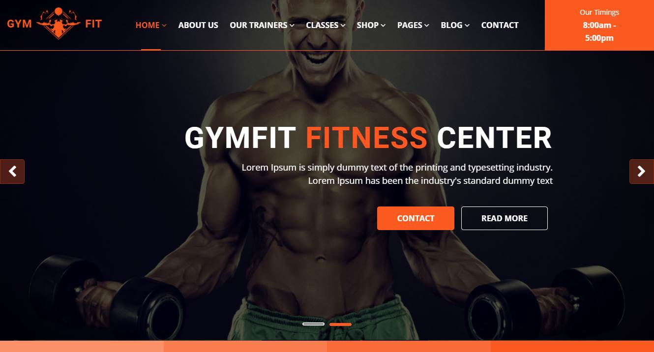 Bodybuilding Website Design
