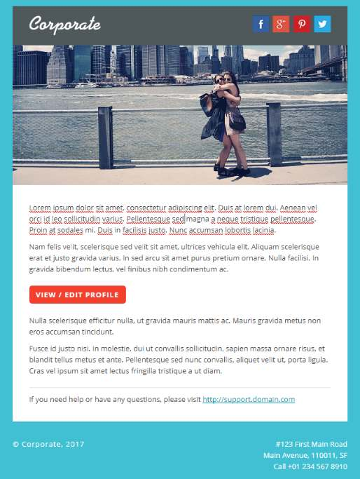 Top 10 best premium business email templates our code world corporate premium email template flashek Gallery