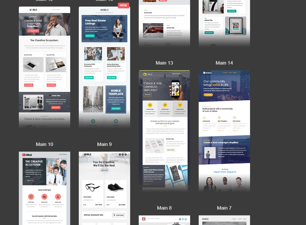 Top 10: Best Premium Business Email Templates   Our Code World