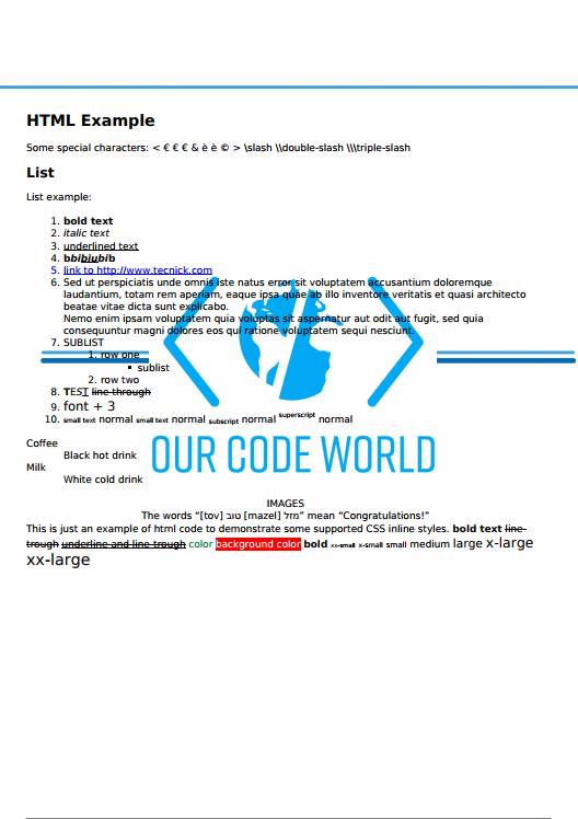 TCPDF With Watermark