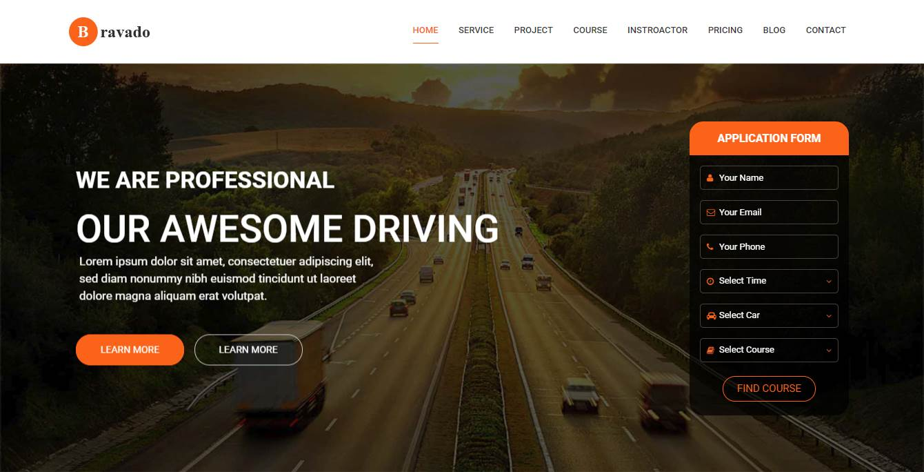 top 7 best premium driving school website templates our code world