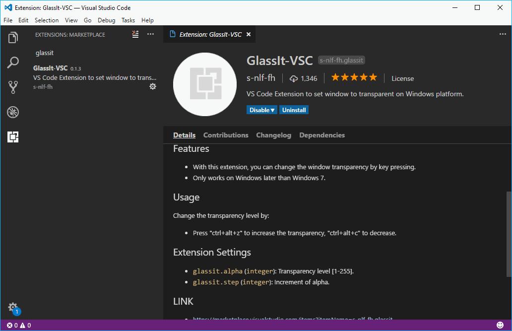 Glassit VSC Installation